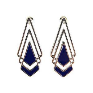 Náušnice s modrými trojúhelníky