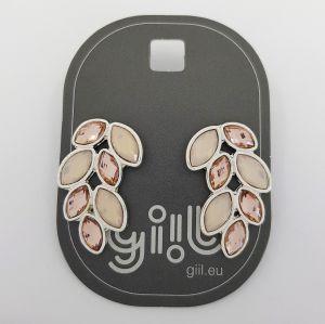 Náušnice s růžovými kamínky do tvaru křídel GIIL