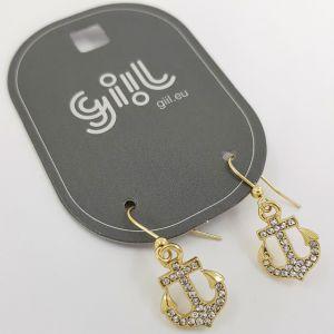 Náušnice Zlaté kotvy s kamínky GIIL