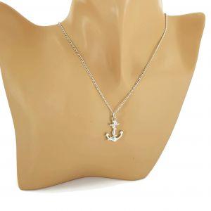 Stříbrný náhrdelník kotvička GIIL