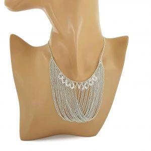 Řetízkový náhrdelník s několika kamínky GIIL