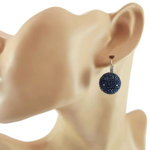 Stříbrné náušnice s modrými koulemi GIIL