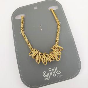 Zlatavý masivní náhrdelník z uzlů GIIL