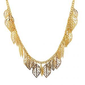 Zlatavý náhrdelník celý z listů