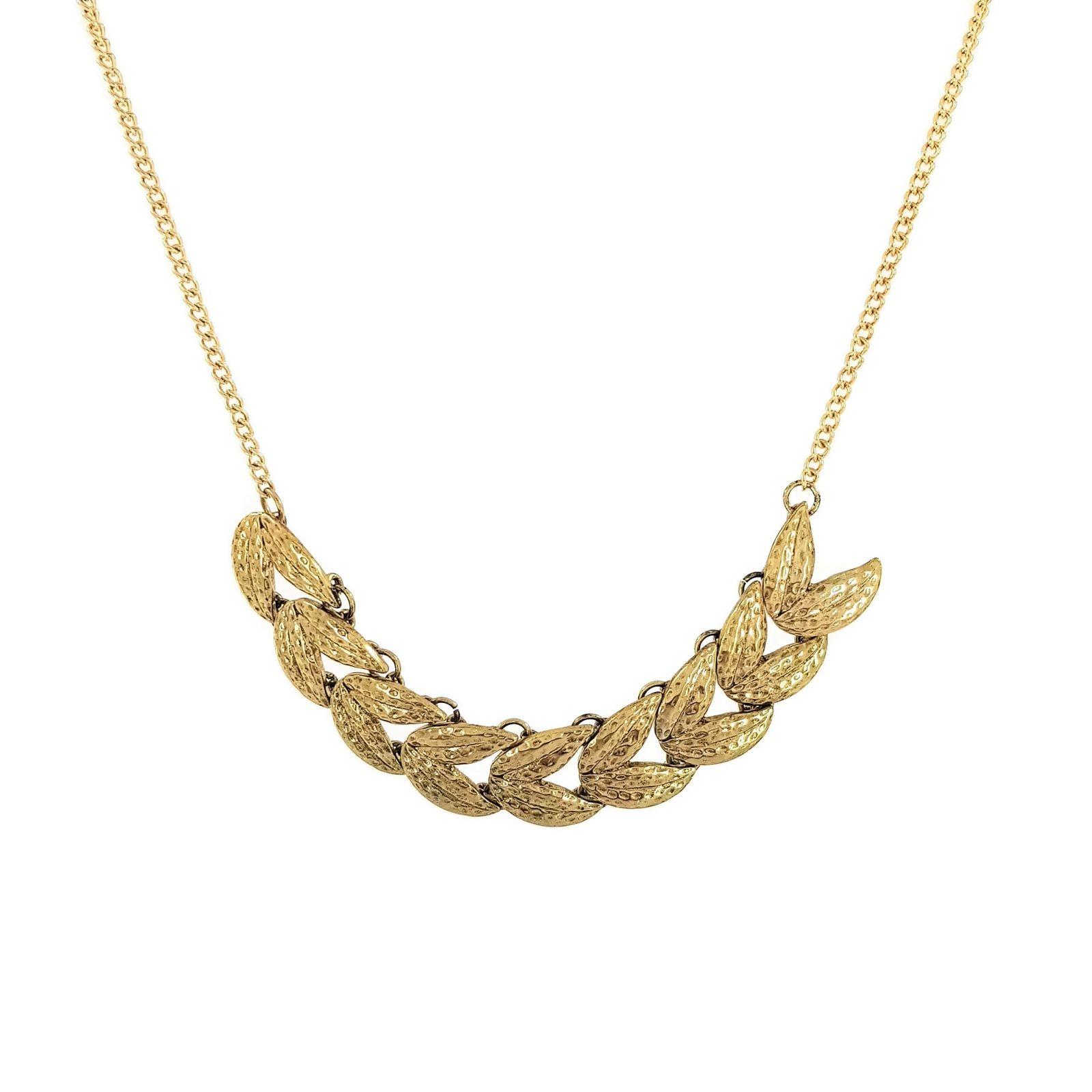 Zlatavý náhrdelník z vavřínových listů GIIL