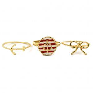 Zlaté prsteny s námořnickými motivy