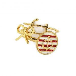 Zlaté prsteny s námořnickými motivy GIIL