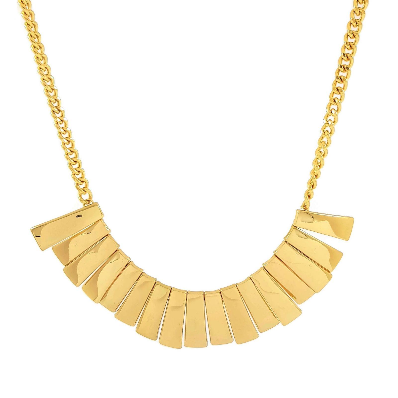 Zlatý masivní náhrdelník z destiček, Egyptský styl