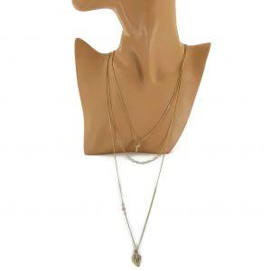 Zlatý náhrdelník jemné řetízky s přívěšky GIIL