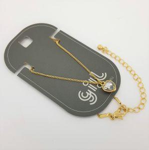 Zlatý náhrdelník s kamínkem ve tvaru srdce GIIL