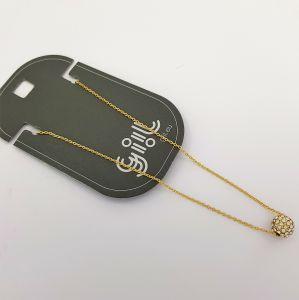 Zlatý náhrdelník s kuličkou vykládanou kamínky GIIL