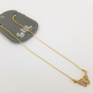 Zlatý náhrdelník s motýlkem