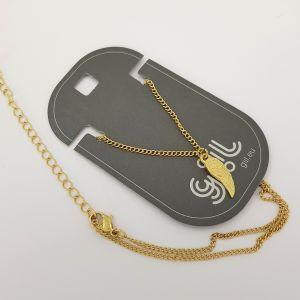 Zlatý náhrdelník zdobený křídlem GIIL