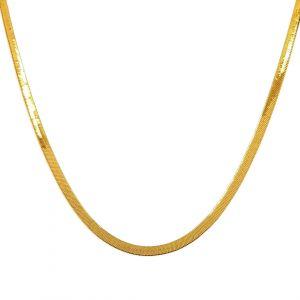 Zlatý plochý náhrdelník