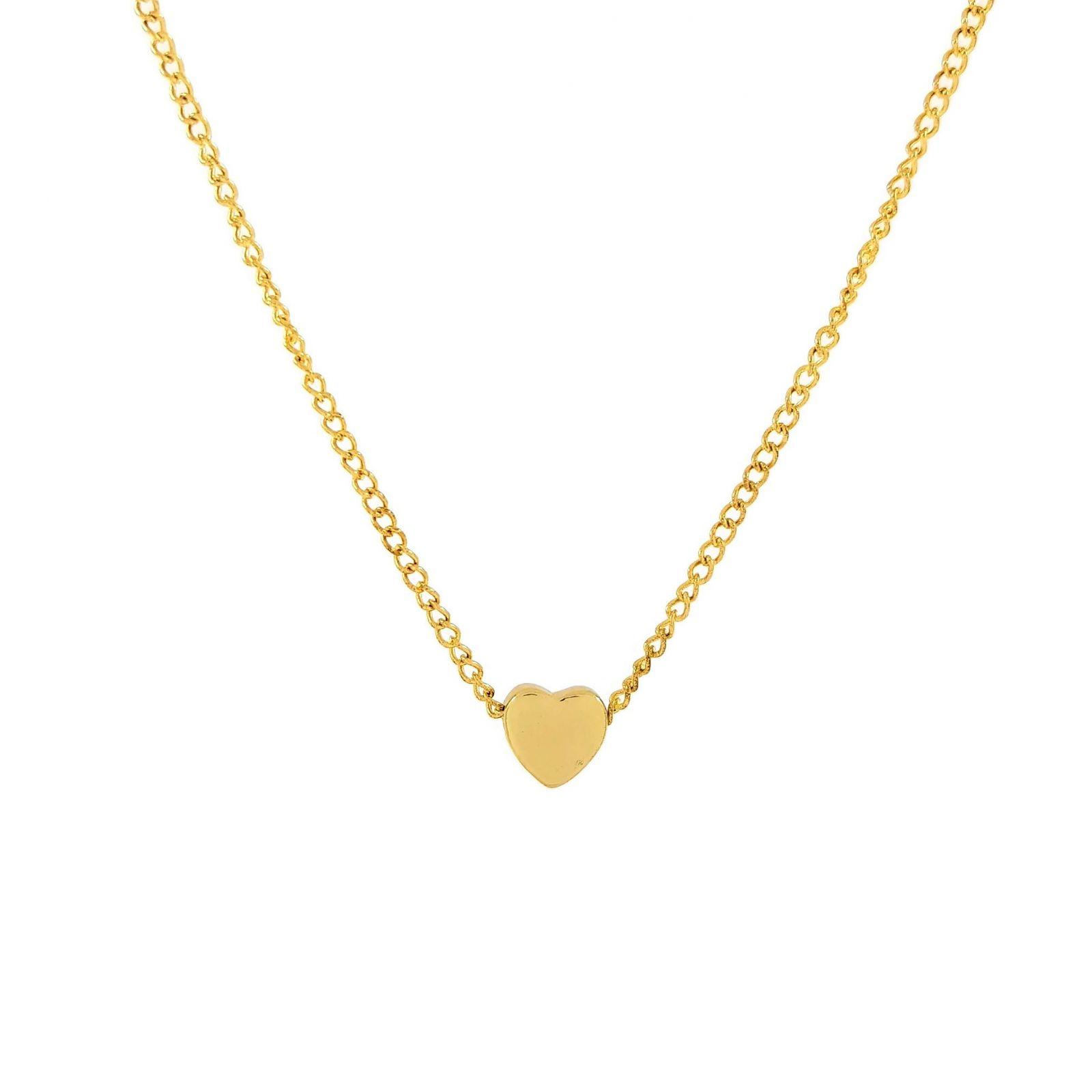 Zlatý řetízkový náhrdelník se srdíčkem GIIL
