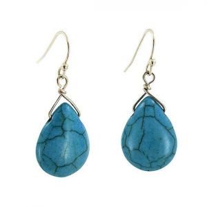 Kamenné modré náušnice