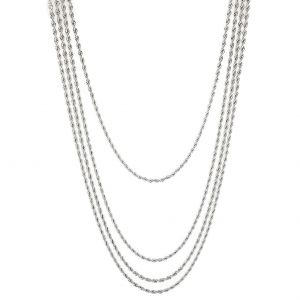 Kovový náhrdelník dlouhý