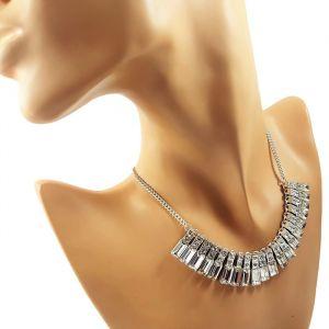 Kovový náhrdelník s kamínky GIIL
