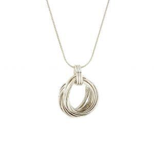 Kovový náhrdelník uzel