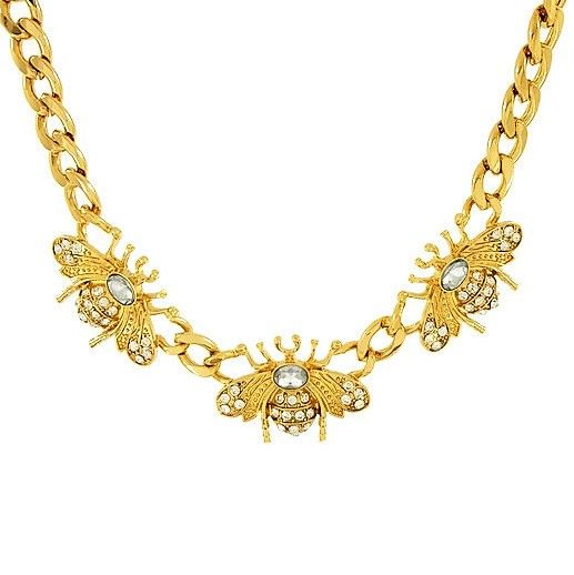 Masivni náhrdelník se včelami