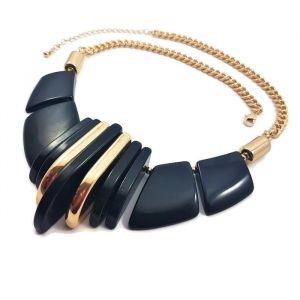 Masivní zlatočerný náhrdelník