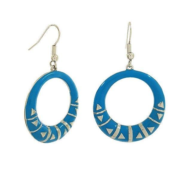 Modré visací kruhové náušnice GIIL