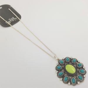 Modrozelený náhrdelník s malými kamínky GIIL
