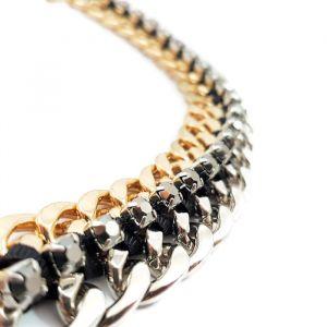 Náhrdelník Zlatý a stříbrný řetěz