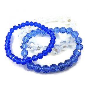 Náramky s modrými průhlednými korálky GIIL