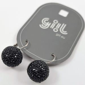 Náušnice černé kuličky s glitrovým efektem GIIL