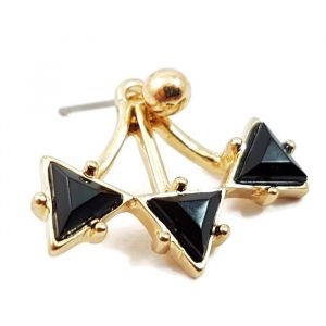 Náušnice s černými trojuhelníčky
