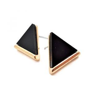 Náušnice s černými trojuhelníky