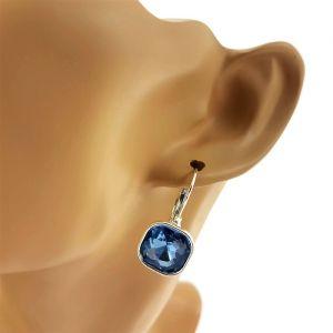 Náušnice s masivním modrým kamínkem GIIL