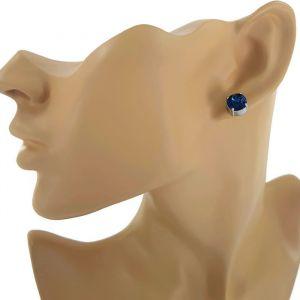 Sada náušnic s tmavě modrými křišťály Swarovski GIIL
