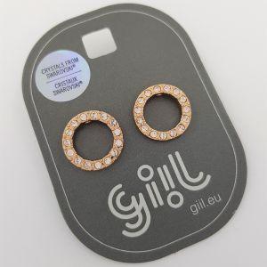 Náušnice malé kroužky s čirými křišťály Swarovski GIIL
