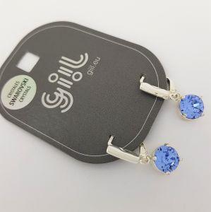 Náušnice Swarovski s modrým křišťálem GIIL