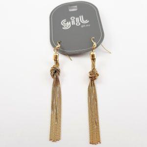 Zlaté houpací náušnice s uzlíčkem GIIL