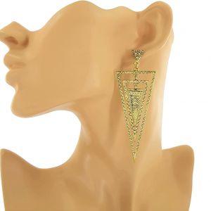 Zlaté houpací náušnice trojúhelníky GIIL