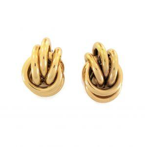 Zlaté náušnice kroužky jako hlavolam