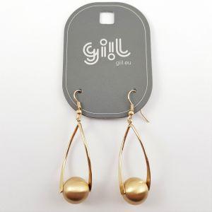 Zlaté náušnice kulička na spirále GIIL
