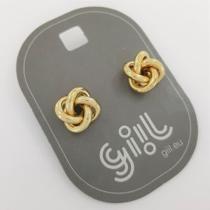 Zlaté náušnice uzlíky GIIL