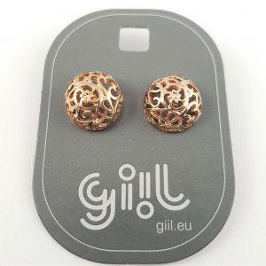 Zlaté pecky s krajkovým vzorem GIIL