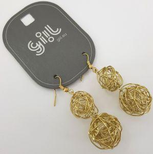 Zlaté visací náušnice klubíčka GIIL
