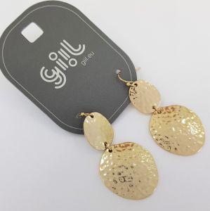 Zlaté visací náušnice tepané středověké mince GIIL