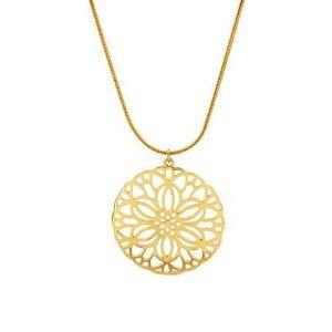 Zlatý náhrdelník s květinou