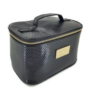 Černá kosmetická taška tvaru kufříku
