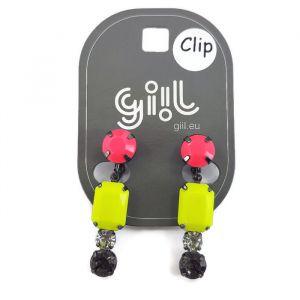 Clip náušnice s výraznými barvami