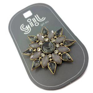 Kamínková brož ve tvaru květiny GIIL