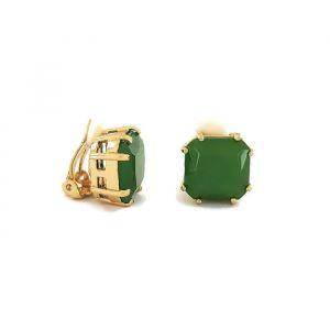 Klipsové náušnice zelené kostky