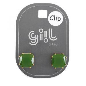Klipsové náušnice zelené kostky GIIL